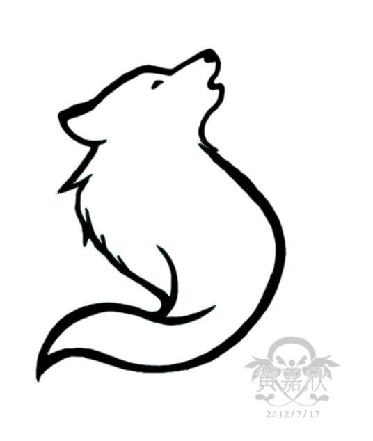 536x634 Drawn Simple Wolf