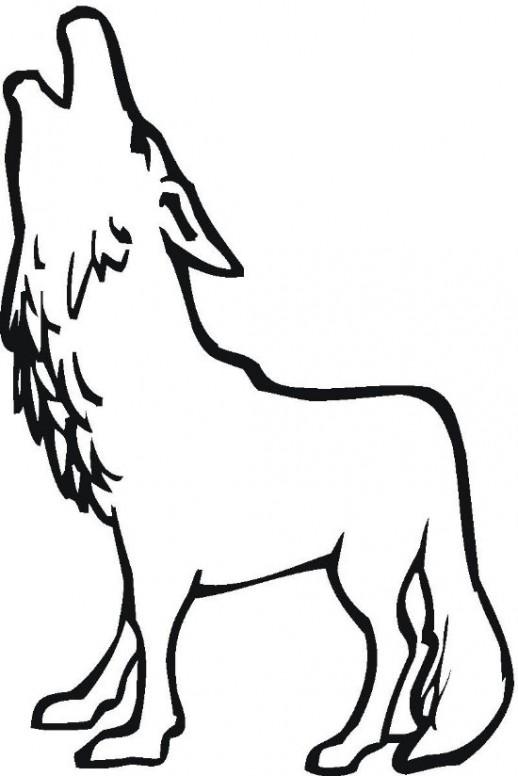 518x776 Simple Wolf Drawings