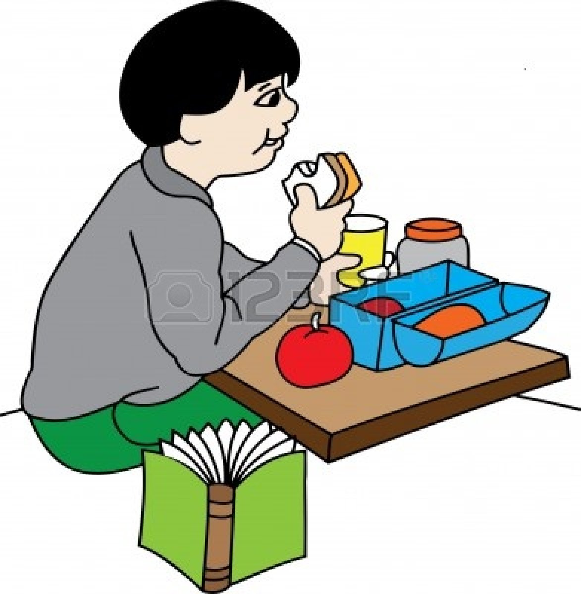 1173x1200 Child Eating Breakfast Clipart