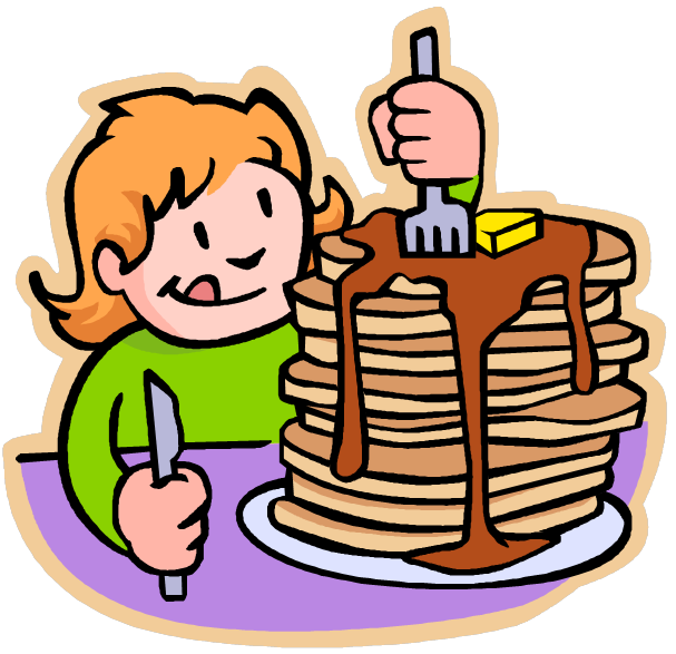 607x587 Free Eating Breakfast Clipart Image