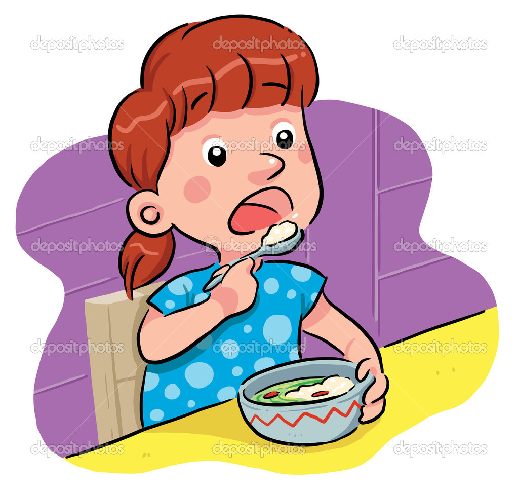 1023x973 Girl Eating Food Clipart