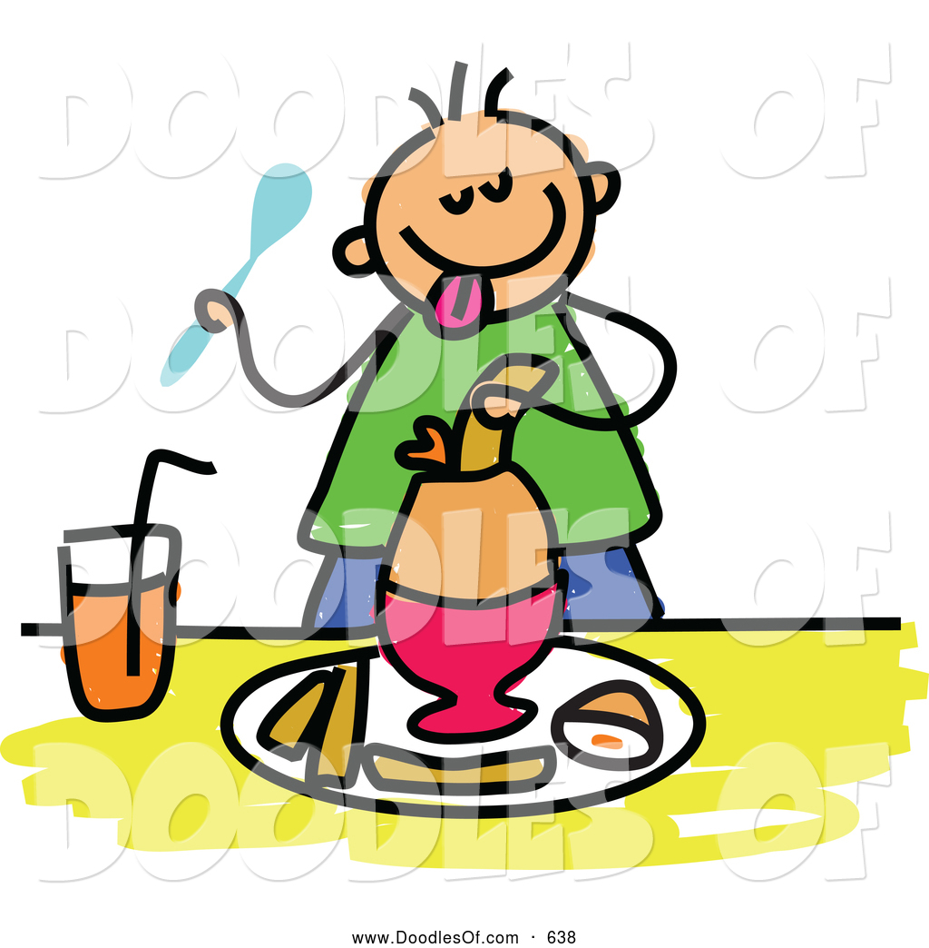 1024x1044 Vector Clipart Of A Stick Boy Eating A Soft Boiled Egg