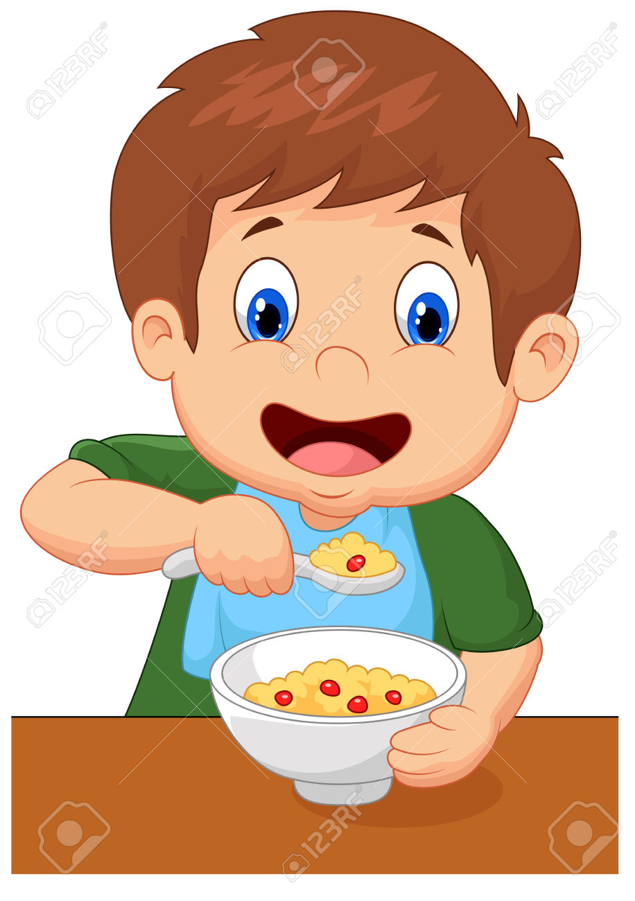 916x1300 Breakfast Clipart Boy Eating