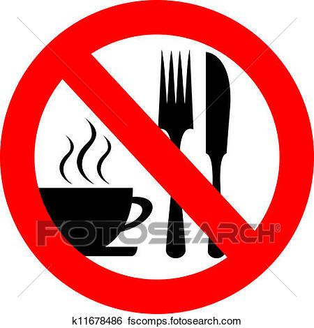 450x470 Clip Art Of No Eat And Drink Vector Sign K11678486