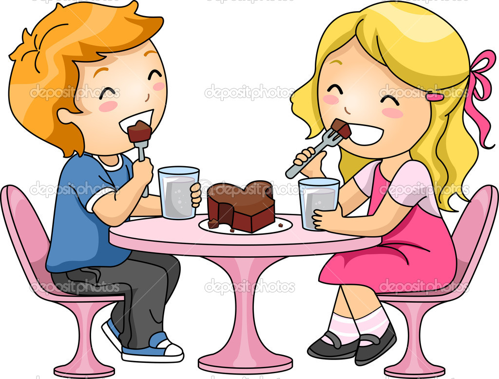 1024x778 Eating Dinner Clipart