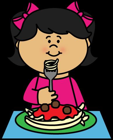 388x483 Eating Spaghetti Clipart
