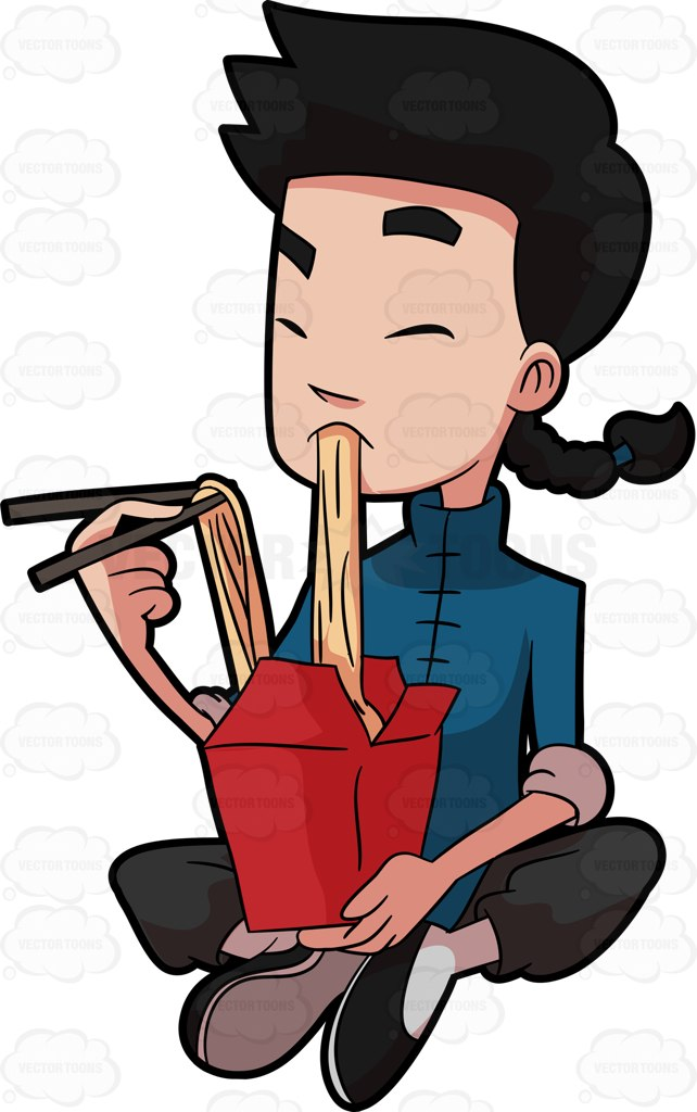 642x1024 Asian Clipart Eating