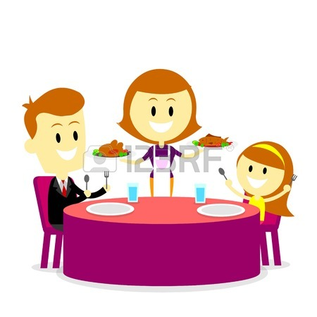 Eat Dinner Clipart