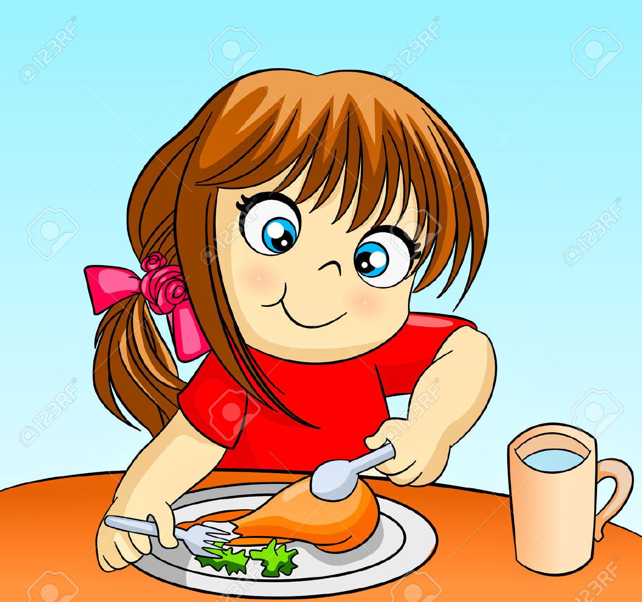1300x1220 Eating Dinner Clipart