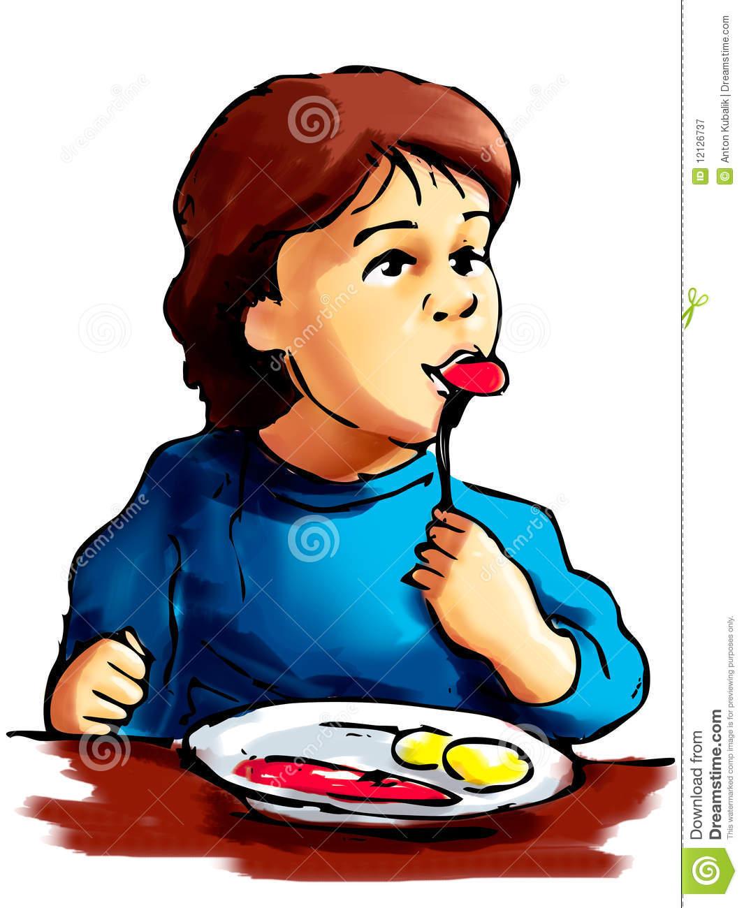 1065x1300 Boy Eating Breakfast Clipart