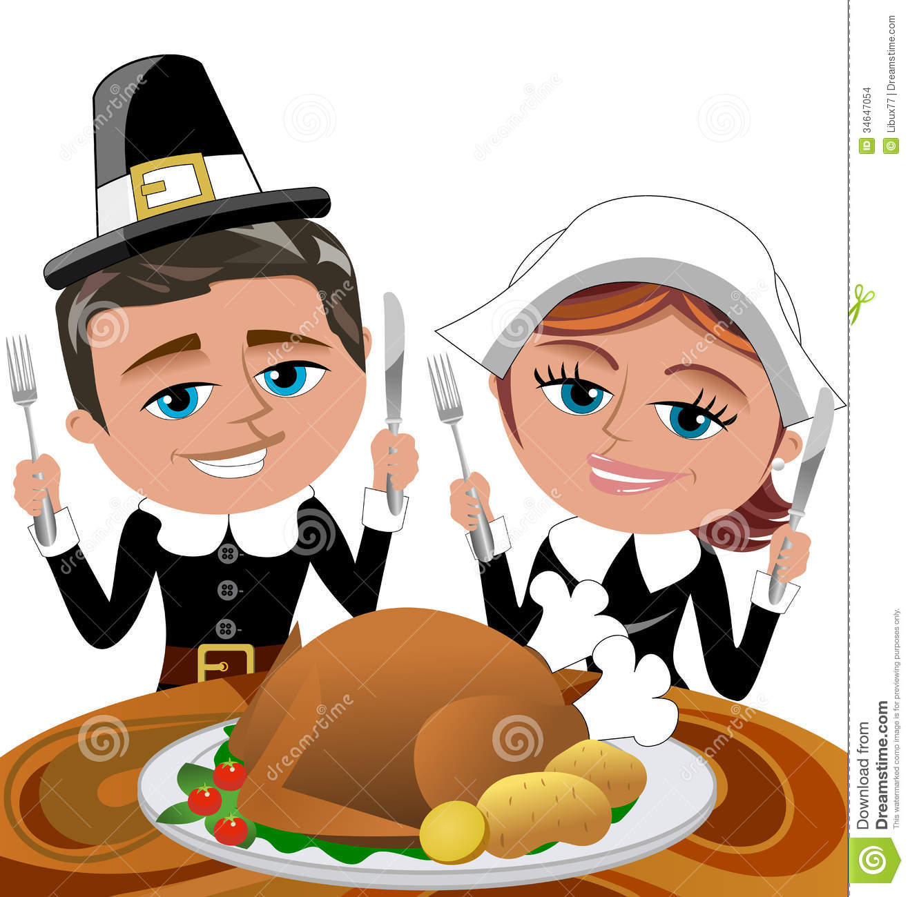 1318x1300 Turkey Dinner Sitting At Table Clipart
