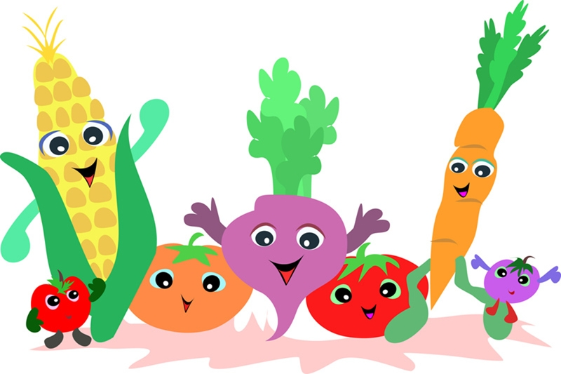 800x533 Cartoon Characters As Super Veggies Help Kids Eat Healthy Free