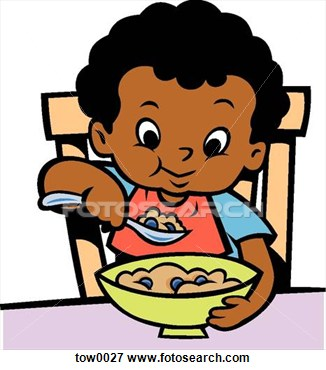 326x370 A Boy Eating Clipart