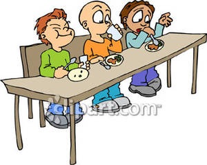 300x239 Eating Lunch With Friends Clipart