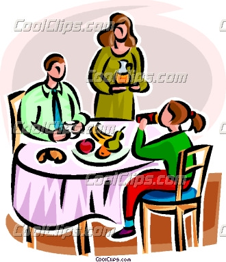 330x383 Family Supper Clipart