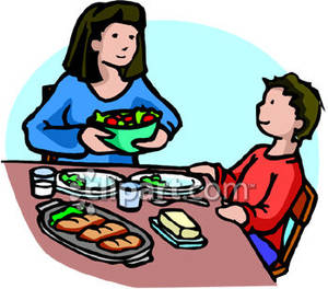 300x264 Kids Eating Lunch Clipart