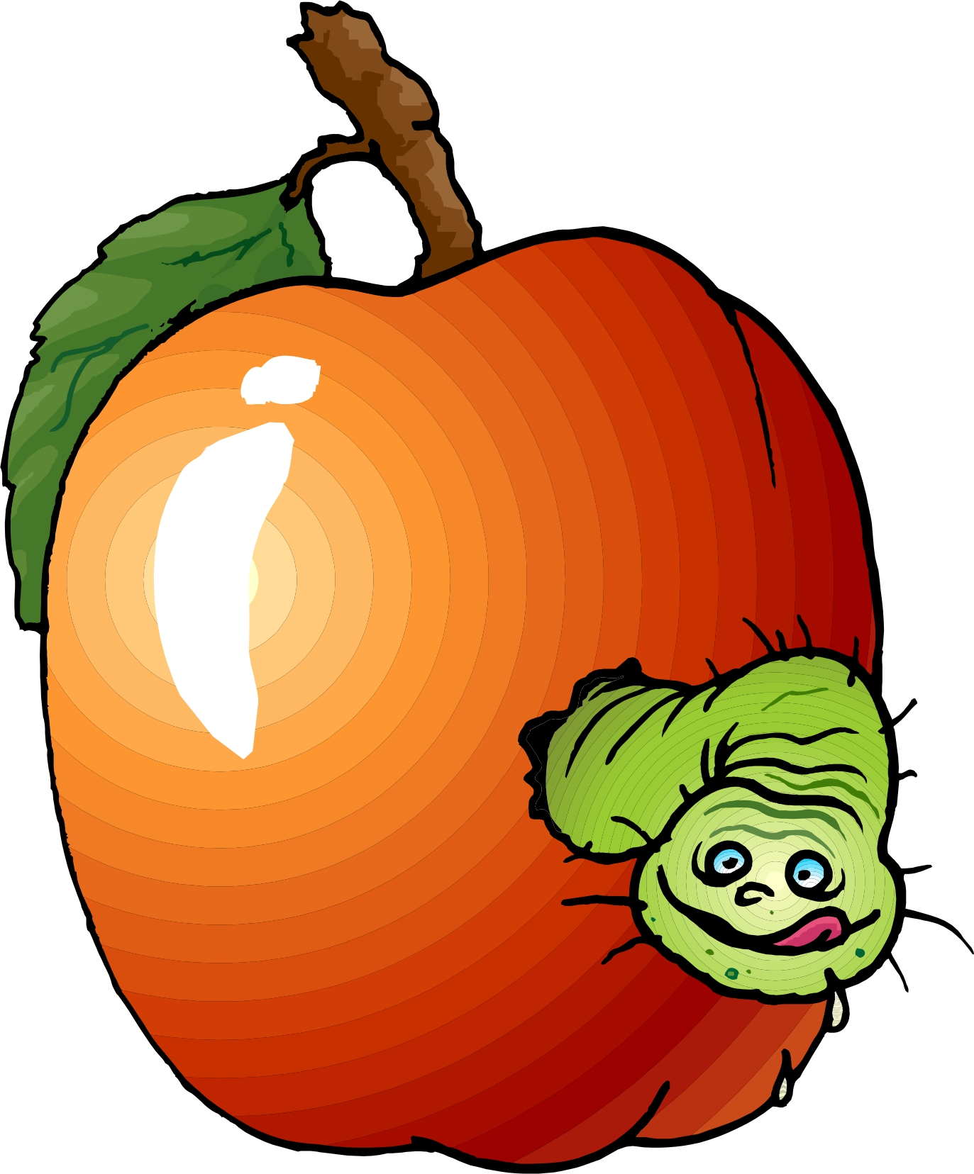 1373x1656 Apple Orchard Clipart Rotten Apple