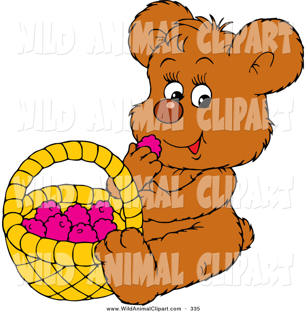 1024x1044 Clip Art Of A Cute Little Brown Teddy Bear Eating Healthy Snack