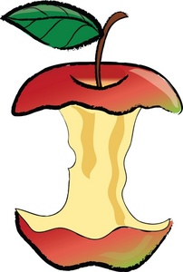 202x300 Eaten Apple Clipart
