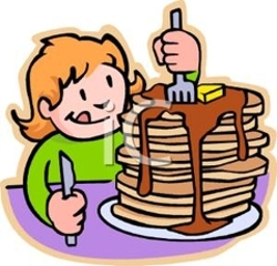 250x240 Eating Breakfast Clipart