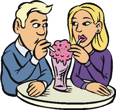 403x384 Family Eating Clipart