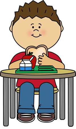 268x450 Boy Eating Cafeteria Lunch Clip Art