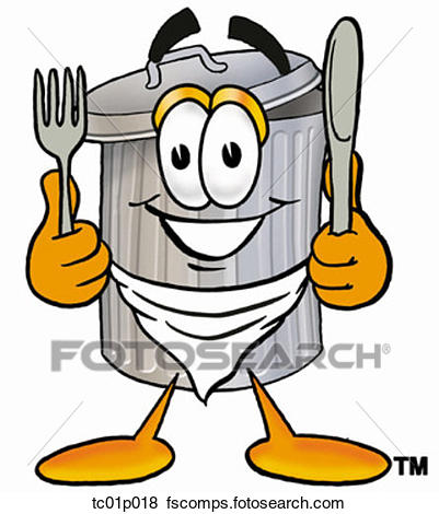 401x470 Clip Art Of Trash Can Eating Tc01p018