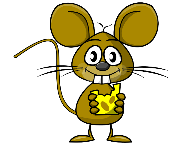 640x480 Free Cartoon Rat Eating Cheese Clip Art