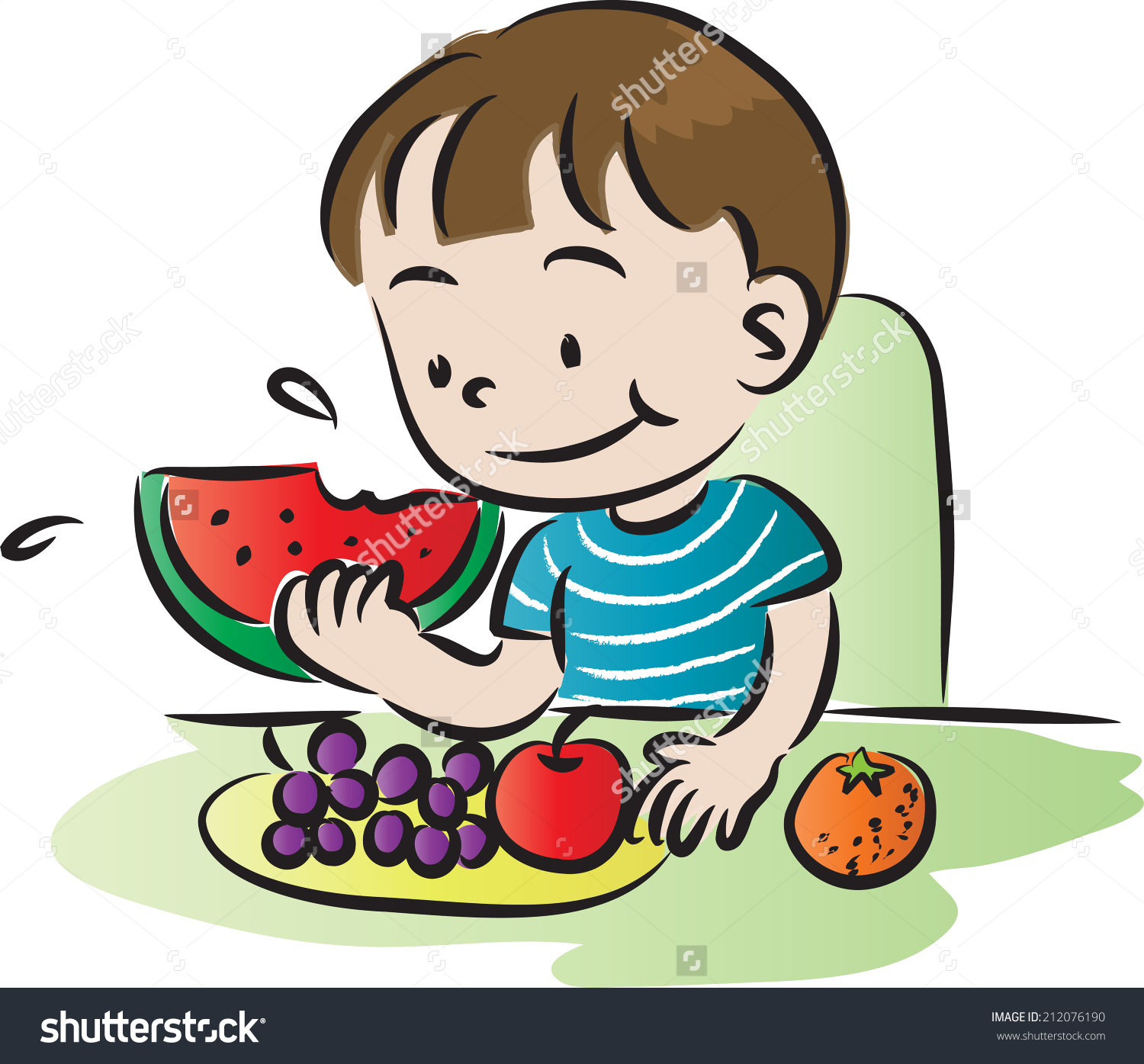 1500x1395 Art Eating Fruit Clipart