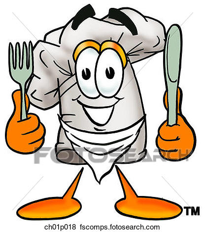 416x470 Clip Art Of Chef Hat Eating Ch01p018