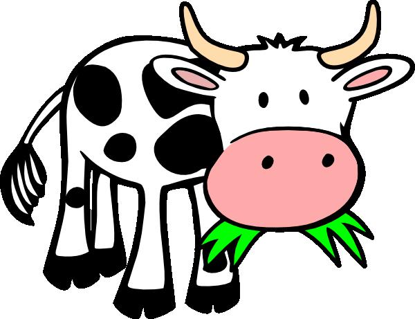 600x461 Cow Eating Grass Clip Art