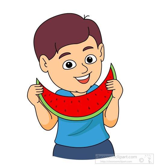 515x550 Eating Watermelon Clip Art Cliparts