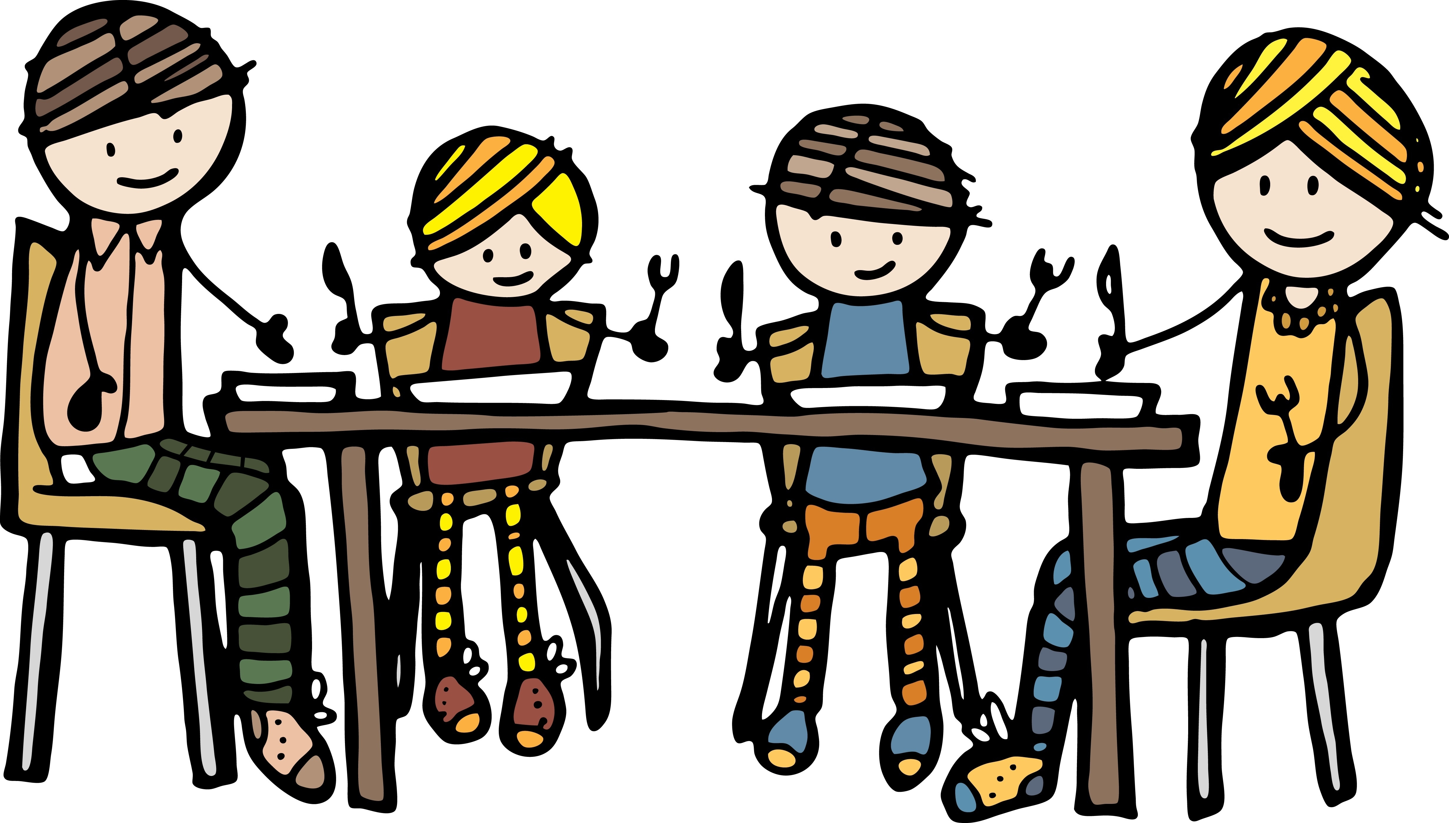 4927x2800 Family Eating Clipart