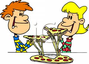 300x218 Kids Eating Pepperoni And Cheese Pizza