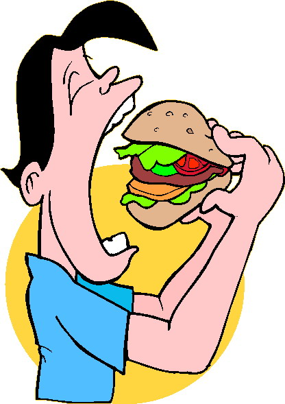 416x589 Person Eating Clipart