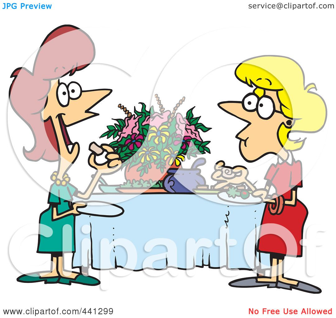 1080x1024 Royalty Free (Rf) Clip Art Illustration Of A Cartoon Ladies
