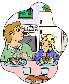 Eating Dinner Clipart