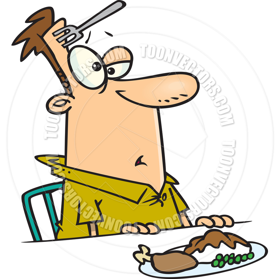 940x940 Cartoon Dinner Klutz By Ron Leishman Toon Vectors Eps