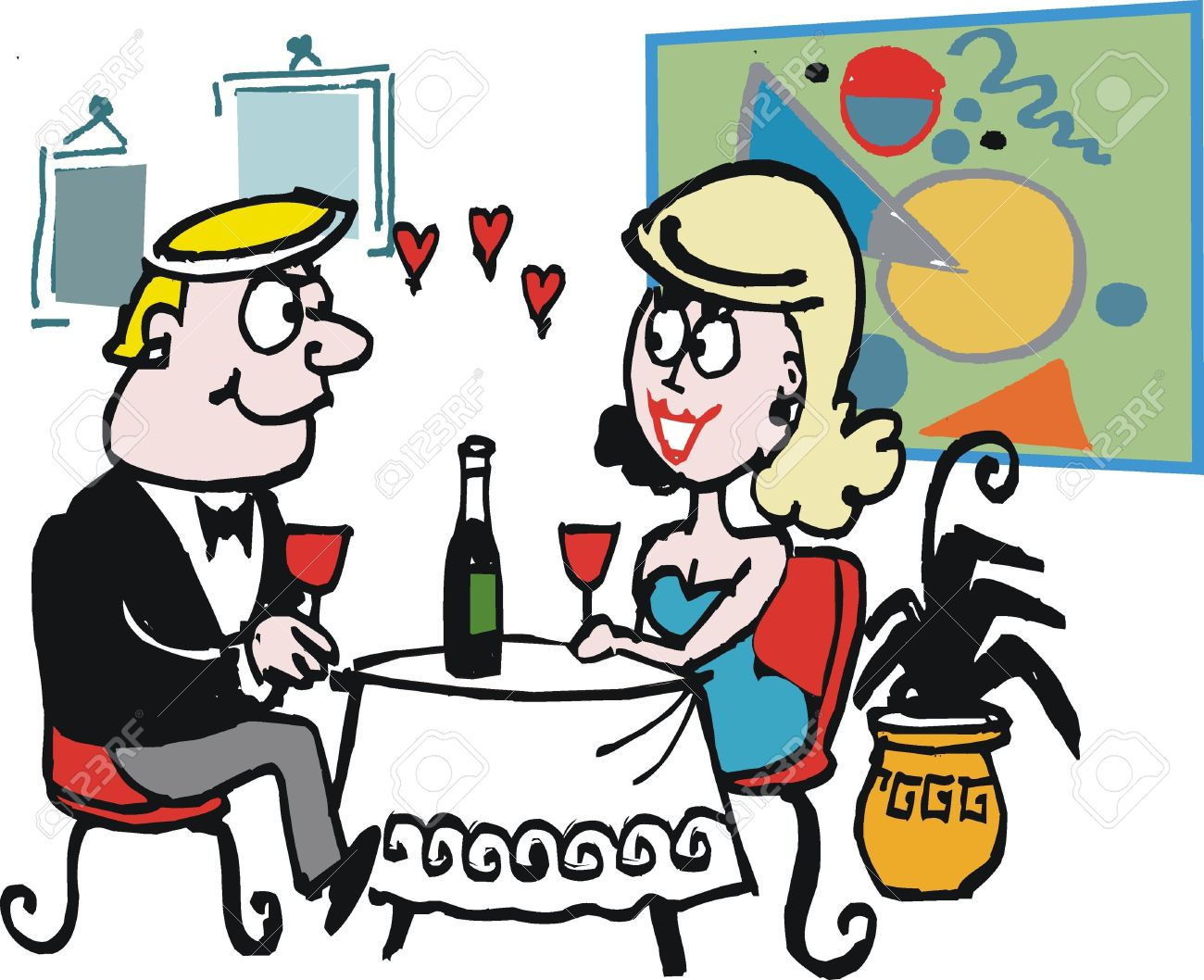 1300x1058 Romantic Dinner In Resrtaurant Dinner Clipart, Explore Pictures