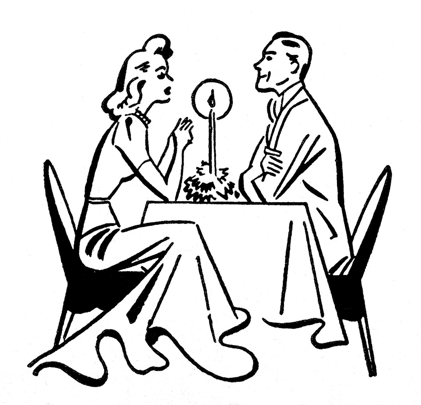 1402x1350 To Draw A Couple Eating A Romantic Dinner Clipart Easy