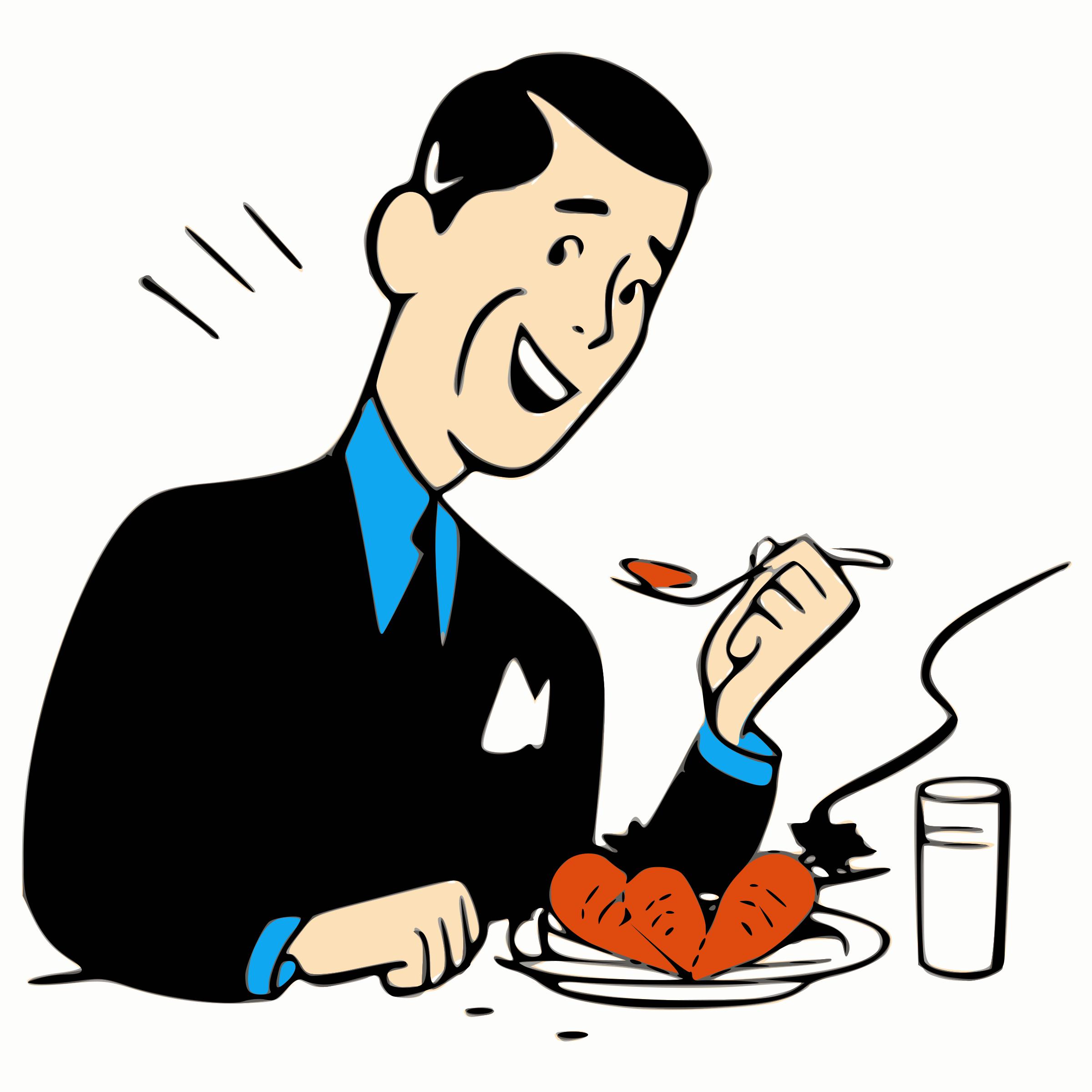 2400x2400 Clipartman Eating Fiery Food