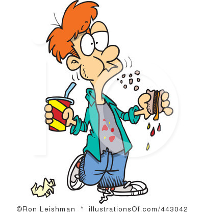 400x420 Eating Junk Foods Clipart