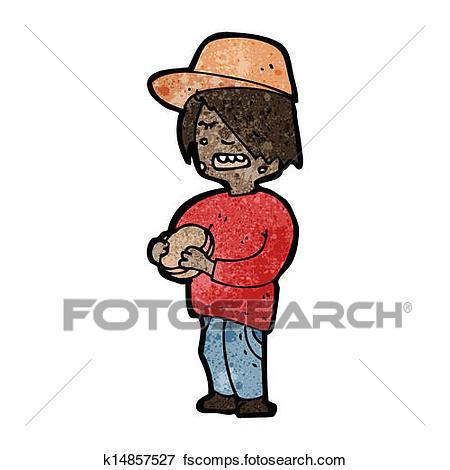 450x470 Clip Art Of Cartoon Boy Eating Junk Food K14857527