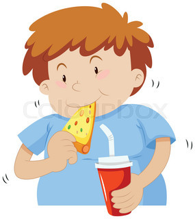 285x320 Family Having Pizza In Kitchen Illustration Stock Vector Colourbox