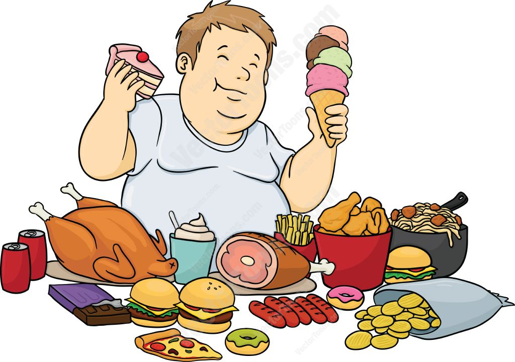 1024x720 Man Eating Food Clipart