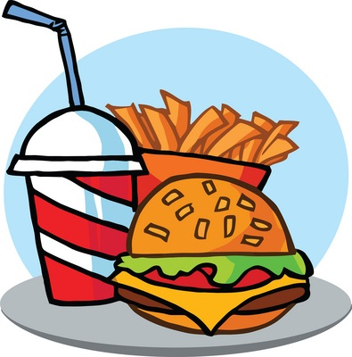 395x400 Meal Clipart Unhealthy Food