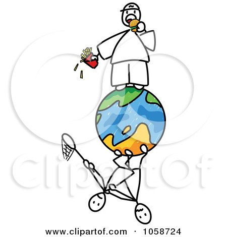 450x470 Royalty Free Vector Clip Art Illustration Of A Stick Man Eating