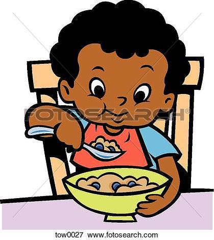 419x470 Boy Eating Clipart