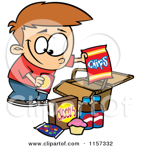 450x470 Eating Junk Food Clipart
