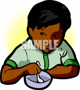 265x300 Art Image A Young Boy Eating A Bowl Of Soup